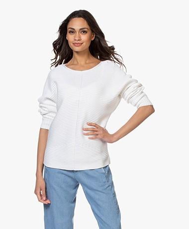 Repeat Dolman Sleeve Sweater - White
