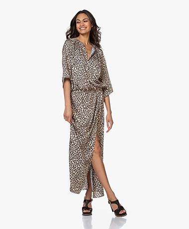 LaDress Samantha Satin Maxi Dress - Animal