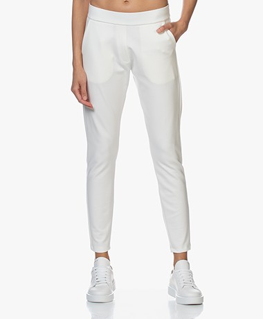 Woman by Earn Bobby Ponte Jersey Broek - Off-white
