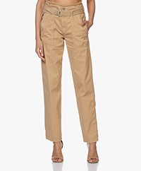 Vanessa Bruno Epagny Tapered High-rise Broek - Mastic