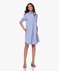 Belluna Feliz Stretch-cotton Shirt Dress - Blue