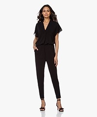By Malene Birger Isina Crepe Jersey Jumpsuit - Black