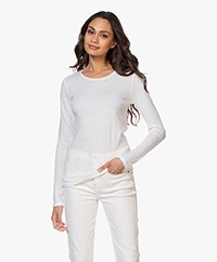 Majestic Filatures Carly Soft Touch R-hals Longsleeve - Milk