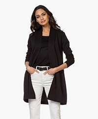 no man's land Textured Open Cardigan - Zwart