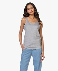 Repeat Lyocell Blend Tank Top - Grey