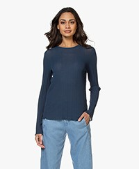 Drykorn Erma Structured Long Sleeve - Blue