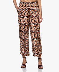 LaSalle Cupro Blend Culottes with Print - Marrakesh