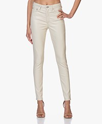 Rag & Bone Nina Leren High-rise Skinny Broek - Off-white