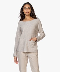 Repeat Fine Knit Boat Neck Sweater - Desert