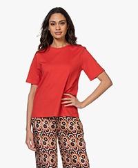 Filippa K Annie Organic Cotton T-shirt - Red Orange
