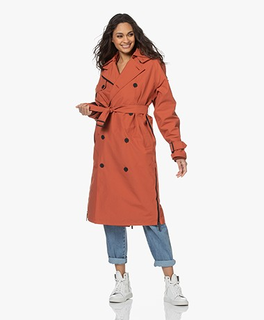 Maium Rainwear Waterproof 2-in-1 Trenchcoat - Brick