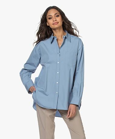 Filippa K Sammy Puur Katoenen Overhemd - Faded Blue