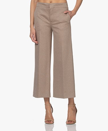 Drykorn Bonnet Jersey Culottes Pants - Brown