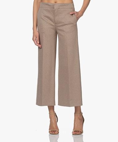 Drykorn Bonnet Jersey Culotte Pantalon - Bruin