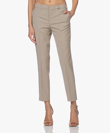 Filippa K Emma Cropped Cool Wool Pants - Desert Taupe