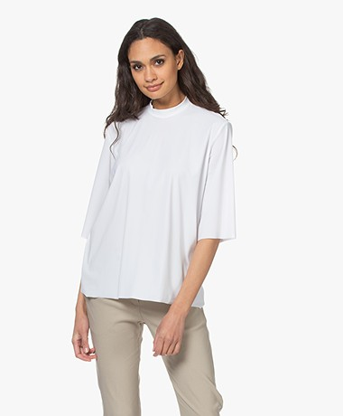 Woman by Earn Chris Tech Jersey T-shirt - Wit