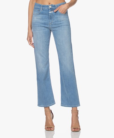 Closed Baylin Cropped Flared Jeans - Mid Blue