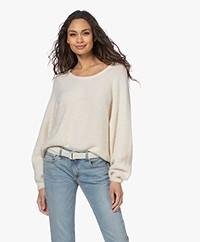 American Vintage East Alpaca Blend Batwing Sweater - Mother of Pearl Melange