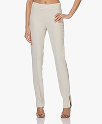 Filippa K Cindy Pants with Side Slit- Soft Beige