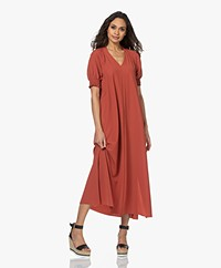 JapanTKY Arky Travel Jersey Maxi Dress - Red Brick