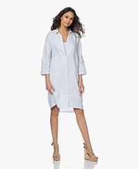 Josephine & Co Lorenne Linen Shirt Dress - Light Blue