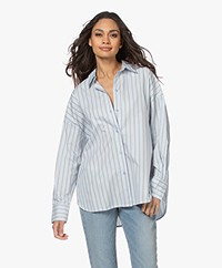 By Malene Birger Elasis Oversized Gestreepte Overhemdblouse - Heather