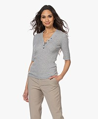 Repeat Luxury Cashmere Mid Sleeve Sweater - Silver Grey
