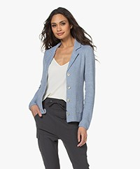 Belluna Eleven Moss Knitted Blazer - Light Blue Melange