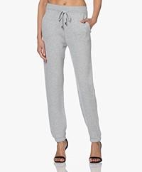 Repeat Gebreide Katoenmix Sweatpants - Soft Grey