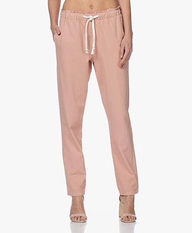 by-bar Emily Linen Blend Pique Pants - Ash Rose
