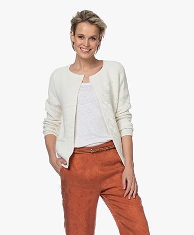Sibin/Linnebjerg Lulu Kort Vest - Off-white