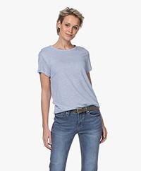 Filippa K Hazel Linnen T-shirt - Ice Blue