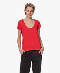 Rag & Bone The Slub U-hals T-shirt - True Red