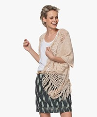 Mes Demoiselles Caicos Open Cardigan with Fringes - Ecru