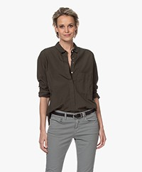 Closed Hailey Cotton Shirt - Shadow Green