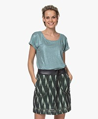 Marie Sixtine Coated Linen T-shirt - Sage