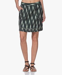 indi & cold Cotton Ikat Mini Skirt - Green
