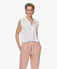 by-bar Star Viscose Crêpe Top - Off-white