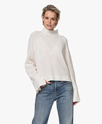 By Malene Birger Vikki Funnel Neck Trui - Soft White