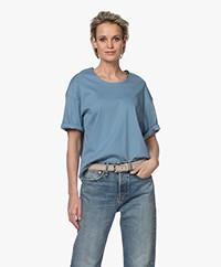 Filippa K Lois T-shirt met Halflange Mouwen - Blue Heaven