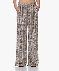 indi & cold Printed Viscose Pants - Tapioca