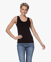 Majestic Filatures Soft Touch Jersey Tank Top - Black