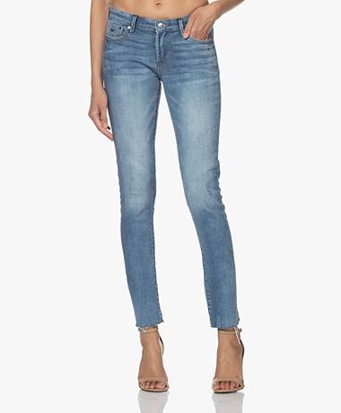 Denham Spray Distressed Super Tight Fit Jeans - Light Blue