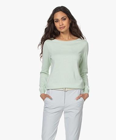 Repeat Sweater in Organic Cotton and Viscose - Pistache