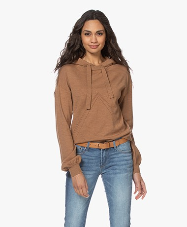 Plein Publique Le Hoodie Merino Blend Knitted Sweater - Chai Tea