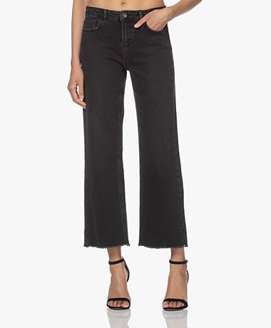 by-bar Mojo T Rechte Cropped Jeans - Jet Black