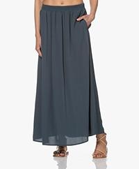 by-bar Emelie Viscose Crepe Maxi Skirt - Oil Blue