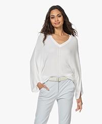 JapanTKY Maru Bamboo Viscose V-neck Sweater - Panna