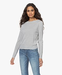 no man's land Lurex Viscose Blend Sweater - Pearl Grey