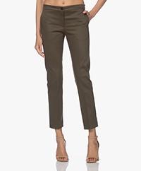 Woman by Earn Stretch Cotton Pants - Khaki